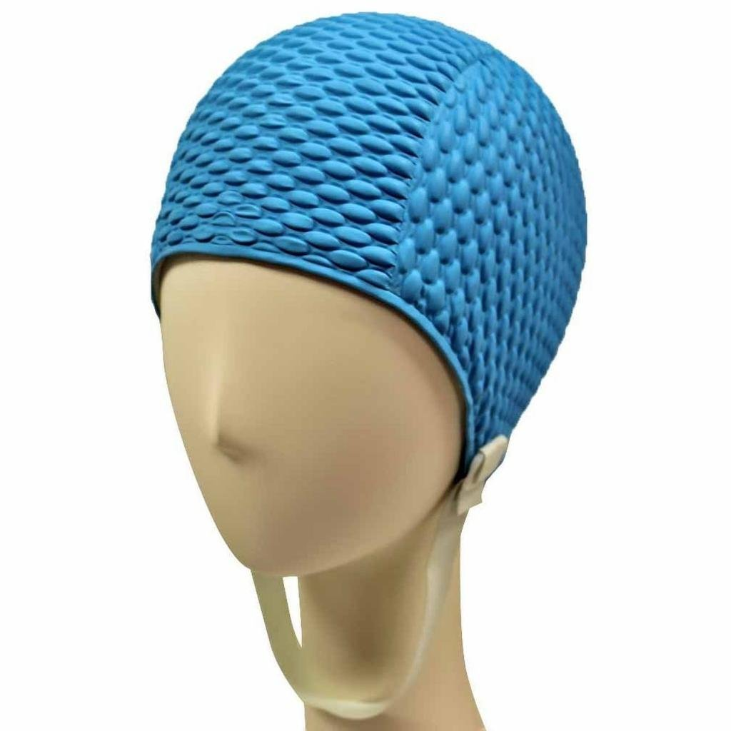 05fdbd70990 Beemo Swim Bathing Caps for Women or Girls Retro Style Latex Bubble Crepe Swimming  Hat with