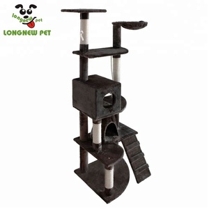 Best Tree Shaped Wholesale Cat Scratcher Board Cat Climbing Tree House for Sale