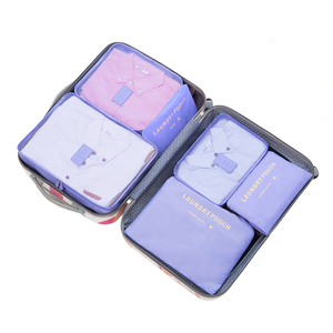 Travel Bag 6 in 1 Praktis Organizer in Luggage Pouch Bag Travel 6 pcs cloth packing cube bag set
