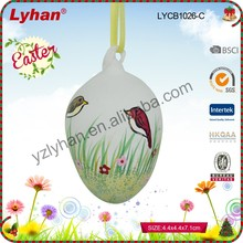 hot sale easter egg glass hanging ornament for easter