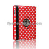 hotsale 360 rotating polka dot pu leather case for ipad air 5,For iPad air,for ipad 5 smart magnetic cover