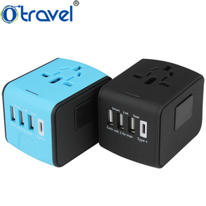 Multi usb charger 3 smart IC port one type c wall socket usb charger for smart phone 5V 3400mA 4 port portable usb charger