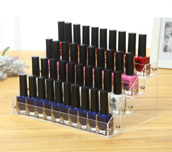 M&E 4 Tiers Acrylic Nail Polish Bottle Display Lipstick Rack for Nail Shop  Sale