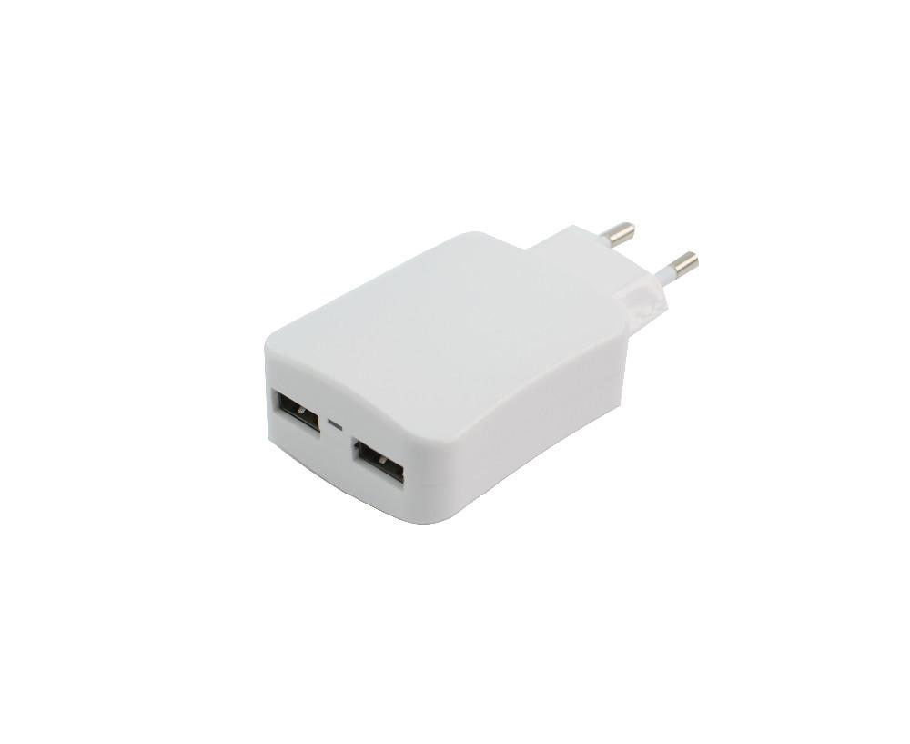 Wholesale Eu Plug Dual Usb Travel Charge 3.4a Power Cube Adapter ...