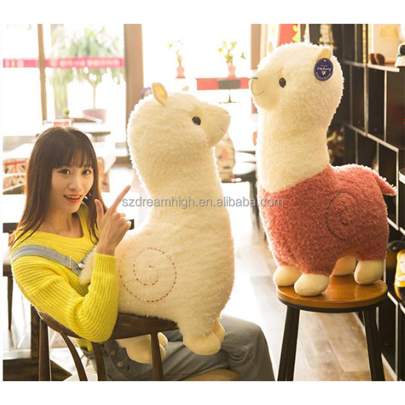 Free sample plush alpaca toys stuffed alpaca toy cute colorful alpaca sheep stuffed animal toys