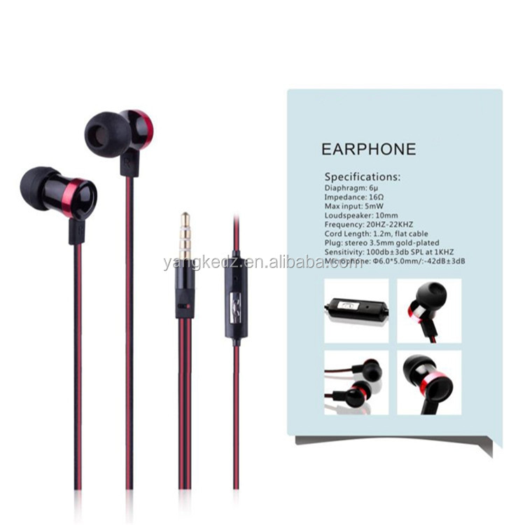 2014 new eco-friendly in-ear design earphone go pro for xiaomi/samsung