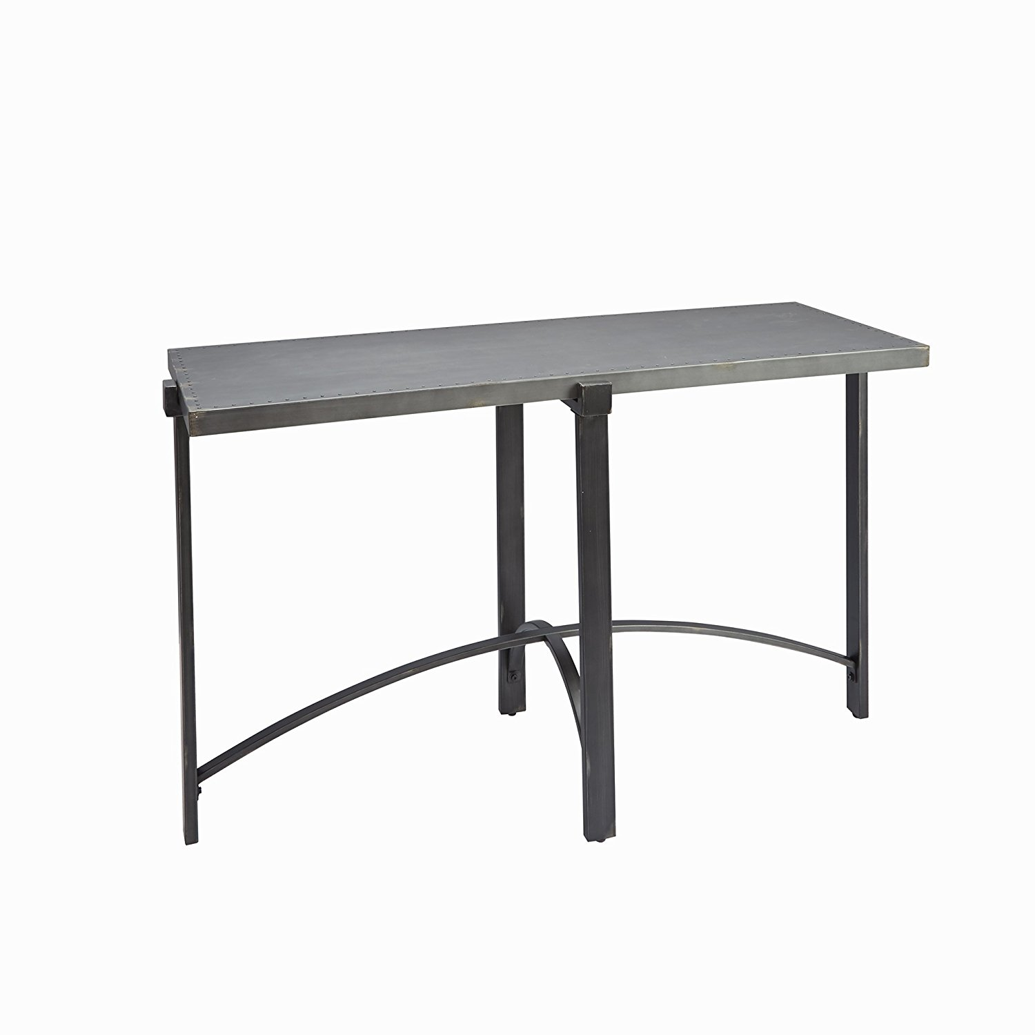 """Silverwood FT1276-CNS-SME Lewis Console Table with Metal Top, 19.5"""" L x 49.5"""" W x 29"""" H, Bronze Metal"""