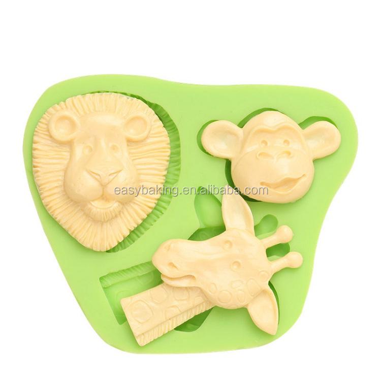 ES-0031 Animal Giraffe Monkey Silicone Molds Fondant Mould for cake decorating.jpg
