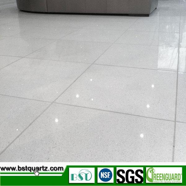 White Strong Quartz Floor