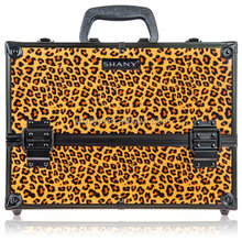 SHANY Essential Pro Makeup Train Case with Shoulder Strap and Locks - Leopard