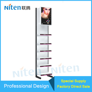 "Flat Back Panel Double-Side Supermarket Shelf Gondola Shelving Supermarket Shelf 50mm Pitch System Classic Tego 13""inch Shelf"