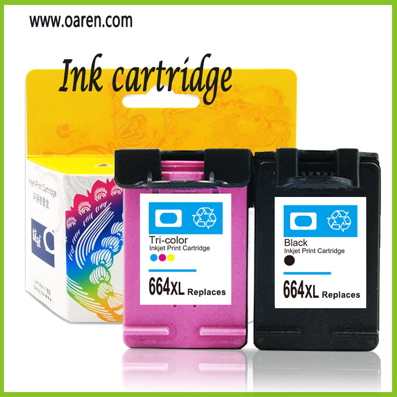 Hot Sale for hp 664XL Ink Cartridge with reset chip