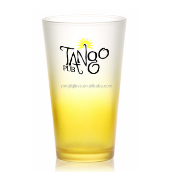 High Quality pint beer glasses,beer glass coloured pint glasses for pub