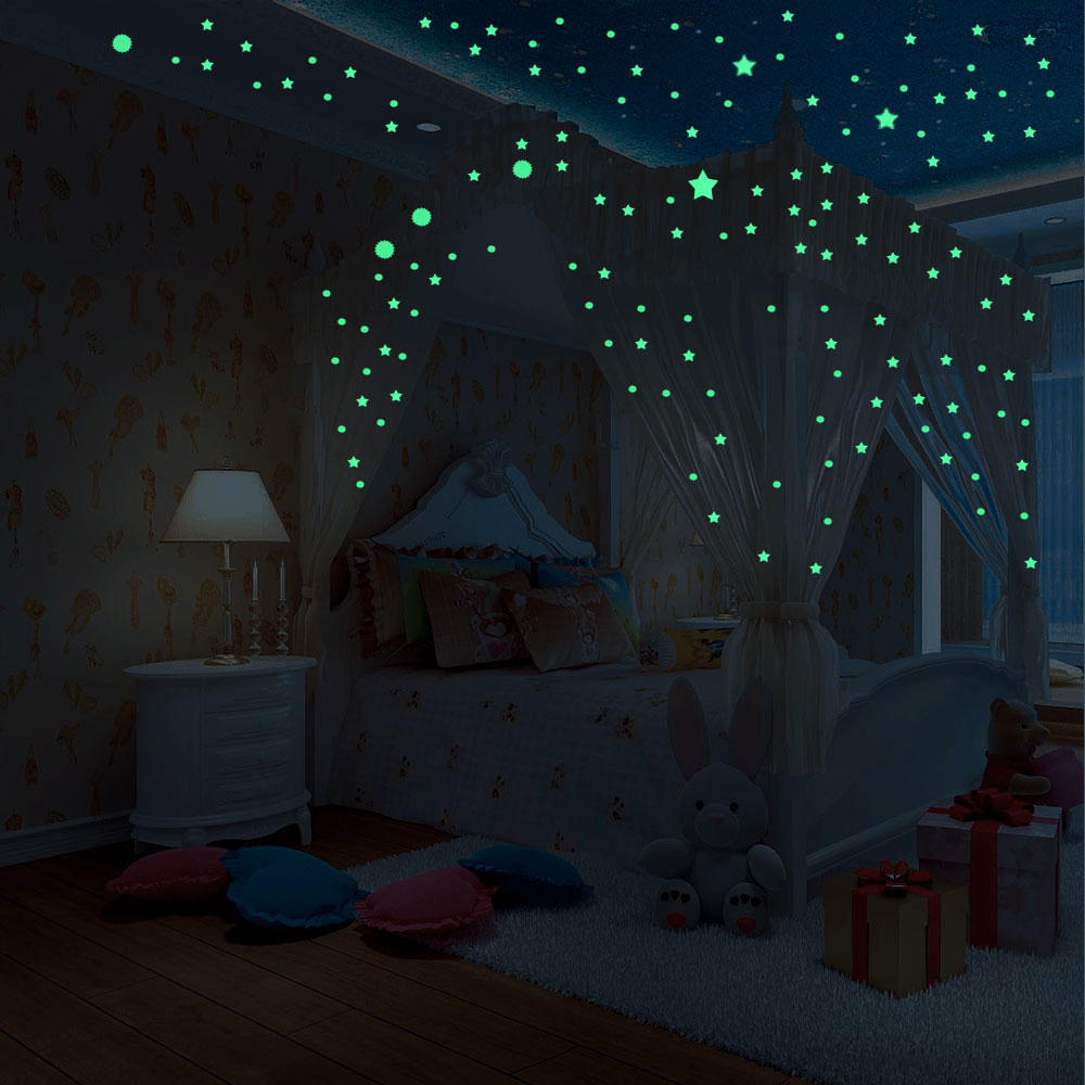 Cheap Vinyl Bedroom Decoration Glow In The Dark Stickers Custom