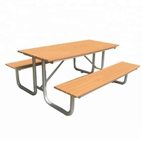 Recycled plastic wood outdoor picnic table and benches