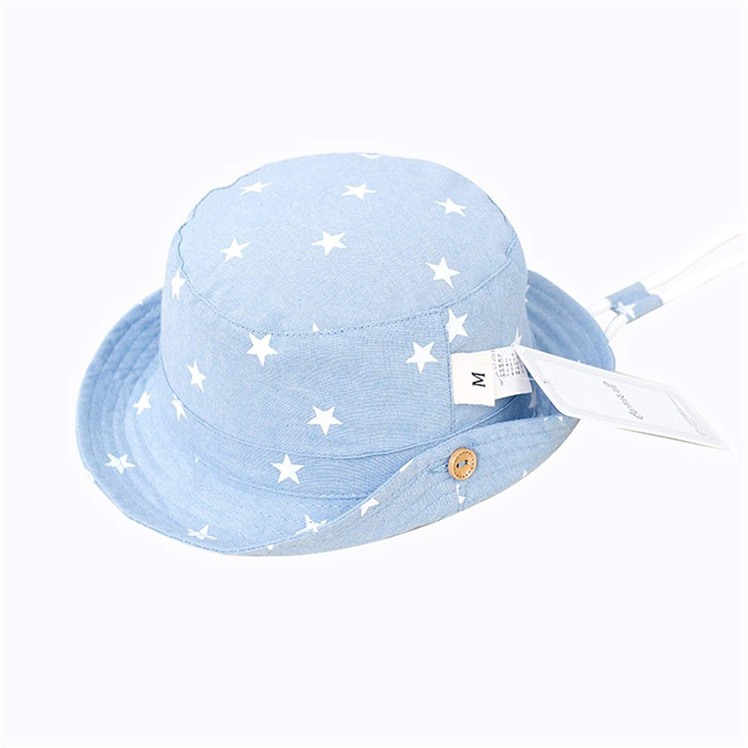 bf5a2692bc9 Get Quotations · EsTong Baby Girls Boys Kids Cowboy Play Sun Hats Caps  Reversible Brim Adjustable Drawstring