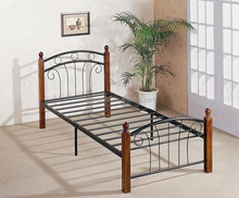 Single Metal Bed Frame With Wood Legs Suppliers And Manufacturers At Alibaba
