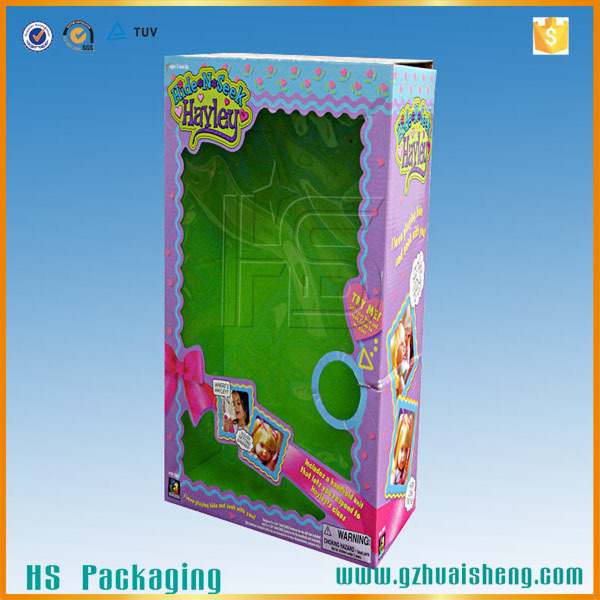 Recycled Printed Logo Wholesale Doll Storage Boxes Cardboard Storage Doll  Boxes