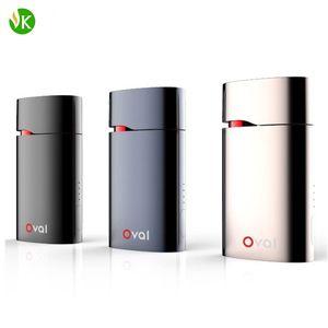 New product Oval portable vaporizer weed dry herb 1600mah battery temp control vape kit custom Packaging