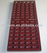 Deluxe Folding Bingo Board with bingo balls