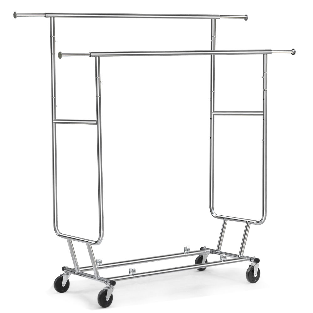Durable used portable garment racks rolling clothing racks for sale heavy duty rolling clothes