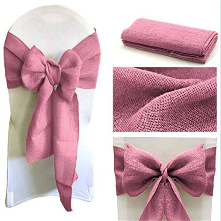 BIG SALE pink wedding satin rose chair sashes for banquet chair covers decoration