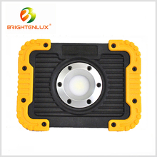 Hot Sale Outdoor Emergency 2*18650 battery Cordless 750lumen USB 10w Cob Work Zone Rechargeable led Worklight