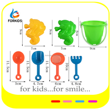 7PCS MINI PLASTIC BEACH SAND TOY SET FOR PROMOTION,OUTDOOR SUMMER ACTIVITY SEA WATER TOYS,3 STYLES ASST