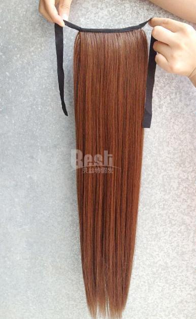 Хвост шнурок хвостики волос длинные прямые парики девушка троса естественно матовый синтетические хай блондинок хвост бесплатно хвосты конский хвост волосы хвосты dtjf011