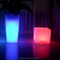 Tall stand square party led flower pot for sale