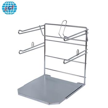 Portable Counter Top Clothing T Shirt Bag Holder Metal Dispenser Rack