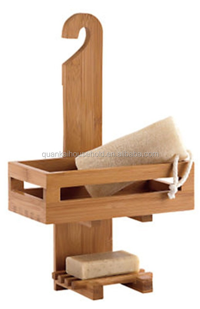 Bamboo Bathroom Shower Hanging Caddy - Buy Bamboo Bathtub Caddy ...