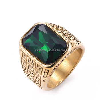 newest vintage rings women wedding stone size square fashion men and big gift design plated green products ring jewelry male silver