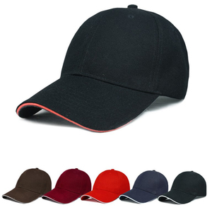 High Quality 6 Panel Fitted Promotional Sports Wholesale Blank Baseball Cap Whihout Logo