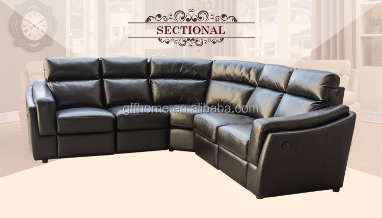Newest Design Used Leather Corner Sofa With Leather Sofa Arm Covers