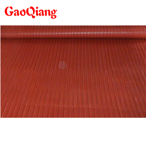 Custom color Thin Narrow Ribbed Corrugated rubber sheet