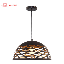 Hot selling fashion cheap bird cage shape led iron metal pendant light