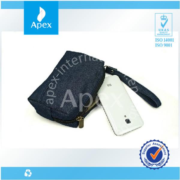 Jeans tote bag waterproof cell phone charger bag
