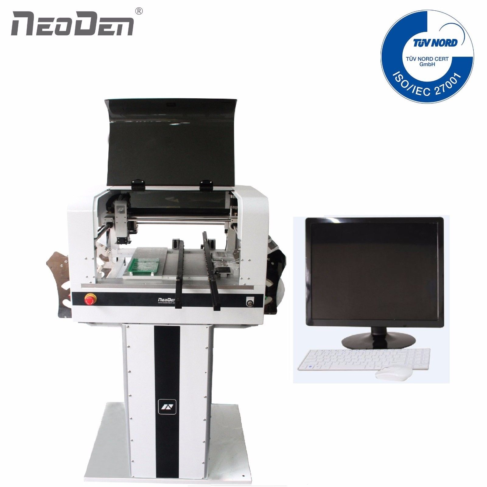 LED SMT pick place machine NeoDen NeoDen4 met camera smd feeder auto transportband 5000CPH led lamp verlichting BGA