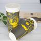 waterproof material biodegradable ecological factory price custom brand logo coffee tea juice ripple foam paper cup disposable