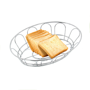 Wholesale fancy stainless steel 430 metal wire mesh home kitchen bread basket