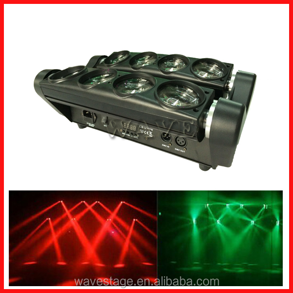 WLED 1-14 New 8 pcs 4 IN 1 RGBW (WHITE) 10W LED linear dmx led moving head mix strobe and wash