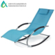 Outdoor Recliner Beach Pool Chaise Patio Rocking Wave Lounger Chair with Pillow Blue