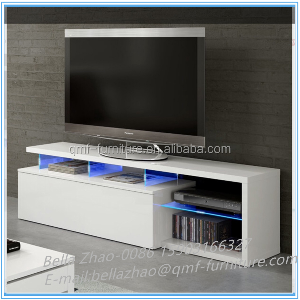 Flat screen high gloss LED LCD TV unit and cabinet
