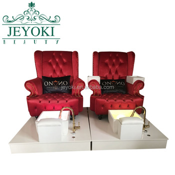 Hot sale beauty salon furniture pink king throne pedicure chair for sale