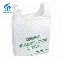 Gravure Printing Custom Plastic T-shirt Packaging Bags for Supermarket