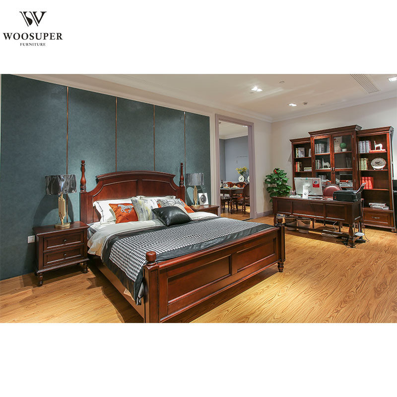 Bedroom Furniture King Bed Frame Luxury King Size Wooden Bed