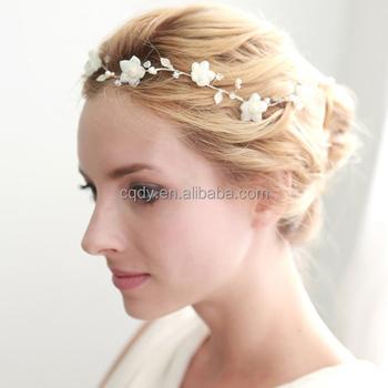 New Arrival Bride White Flower Hair Accessary Wholesale Romantic Wedding Headpiece Buy Bridal Headwear White Flower Bridal Headpiece Hair