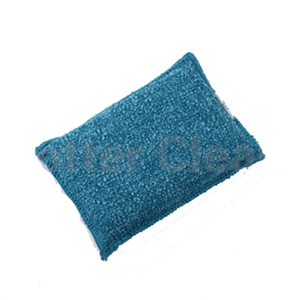 100% Polyester scrubber with washable foam cleaning sponge