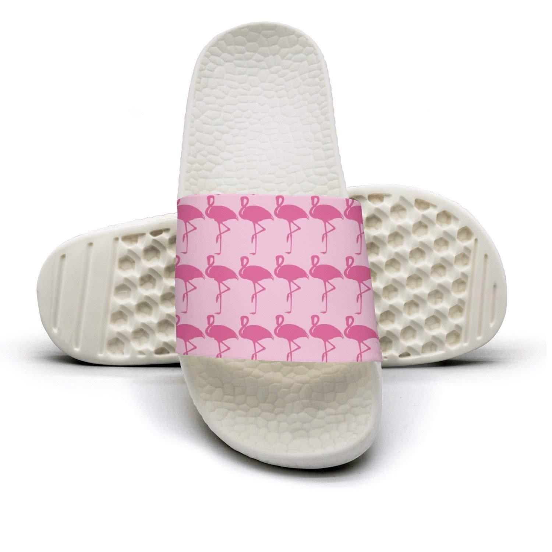 Color Pink Flamingo In Spanish Bath Slipper Anti-Slip For Men